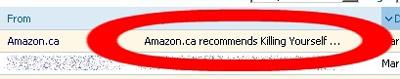 Amazon recomienda suicidarte