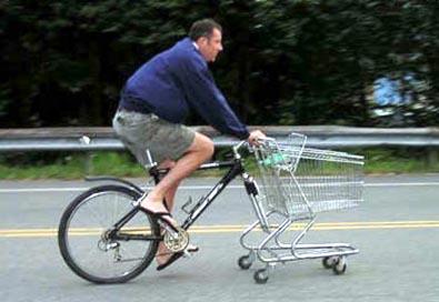 Bicicleta carro de compras
