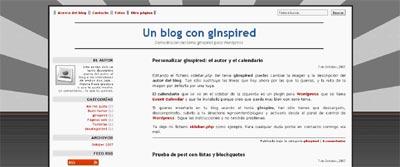 Ginspired WordPress Theme