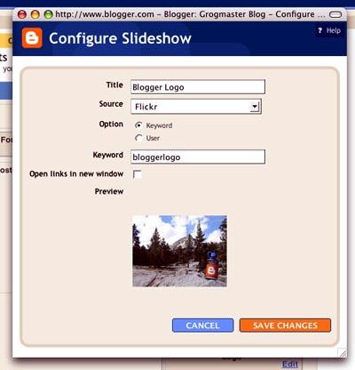 Blogger Slideshow
