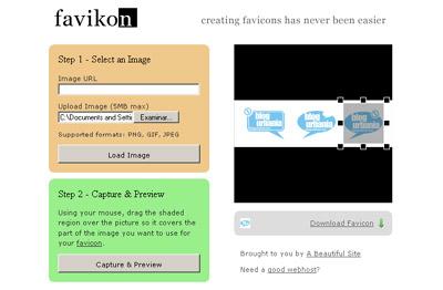 Favikon, generador online de favicon