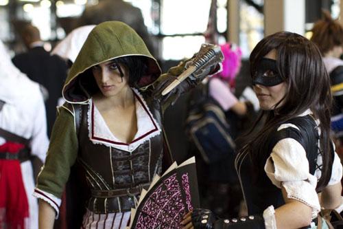 Chicas en cosplay del videojuego Assassin