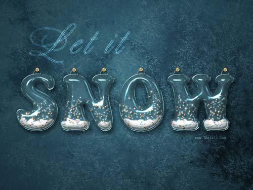 Efecto agua y nieve en Photoshop