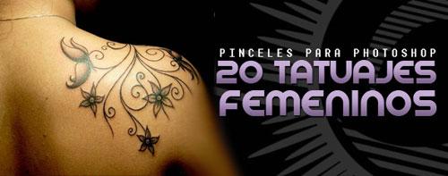 Brushes de tatuajes para Photoshop