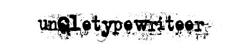 Tipografía uncletypewriter