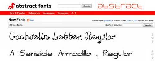 Recopilación de Webs de descarga de tipografías