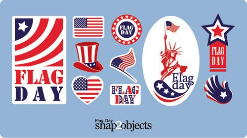 Vectores del día de la bandera EEUU