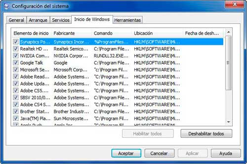 Optimizar inicio de Windows