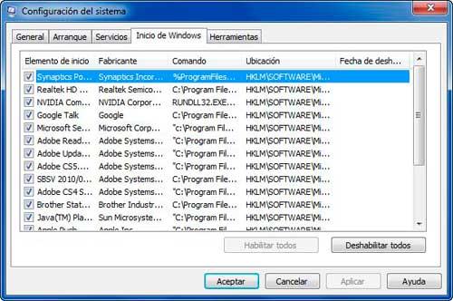 Optimizar inicio de Windows