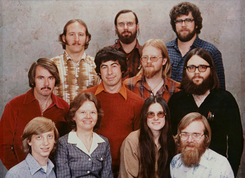 Equipo de Microsoft de 1978 y como eran de jovenes
