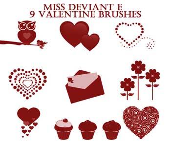 Descarga gratis Burshes de San Valentín