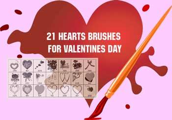 21 Brushes de corazón gratis