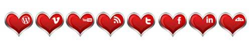 Iconos de San Valetín de redes sociales