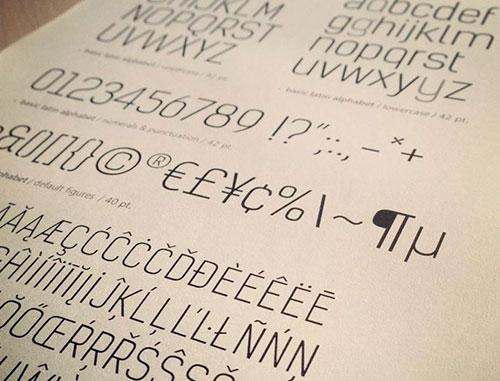 Tipografía Kelson Sans