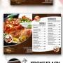 Diseño creativo para menú de restaurante.