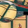 Diseño vintage de menú o carta para restaurante