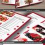 Diseño de menú elegante para restaurante
