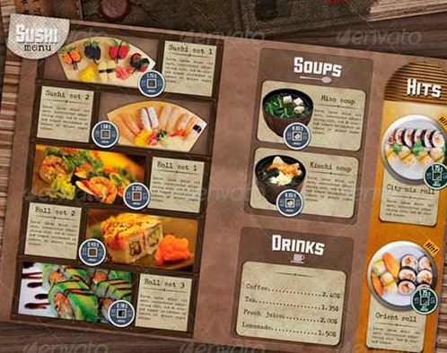 Diseño de menú creativo