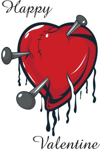 Corazón de San Valentín estilo grunge