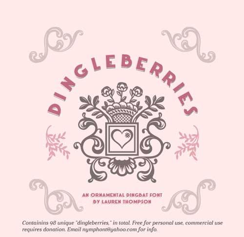 Tipografía ornamental Dingleberries