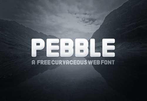Tipografías Pebble gratis