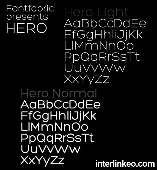 Hero Font, descarga gratis la tipografía limpia