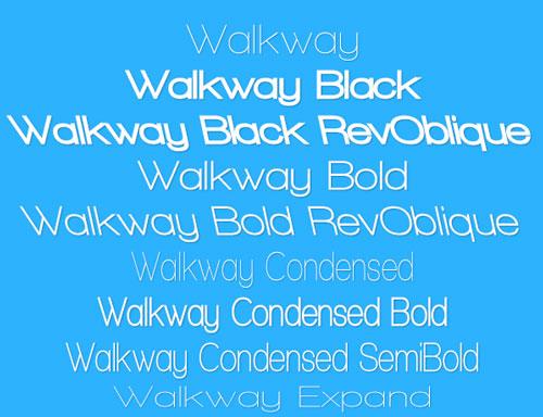 Tipografía WalkAway