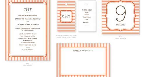 Invitación para bodas Garden Stripes