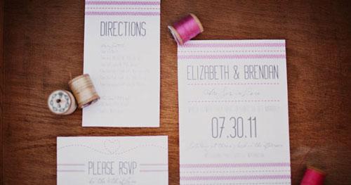 Invitación para bodas Sew In Love