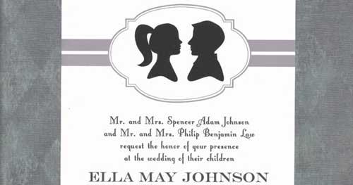 Invitación para bodas Silhouette