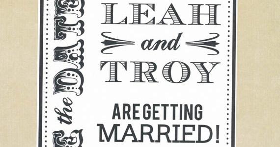 Invitación para bodas Words