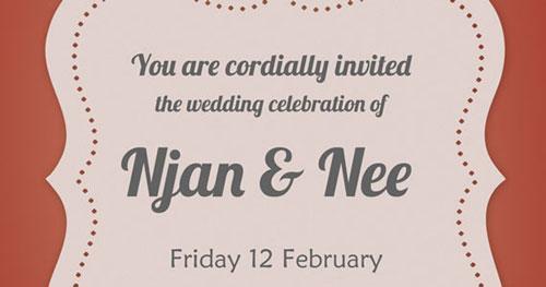 Invitación para bodas Modern Wedding