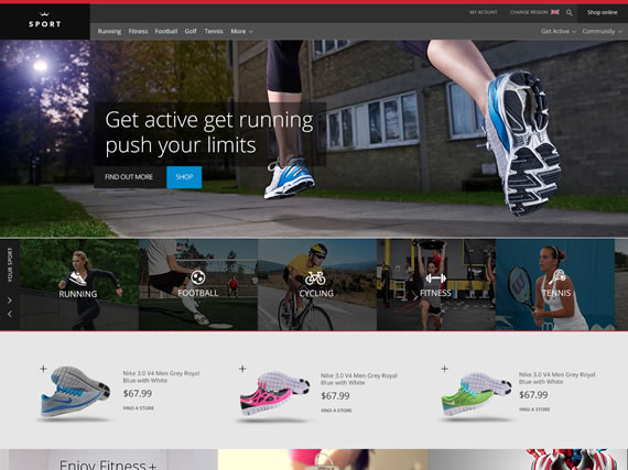 Plantilla PSD Sports Website