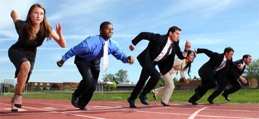 Los negocios Web son una competencia que puede ser como una carrera