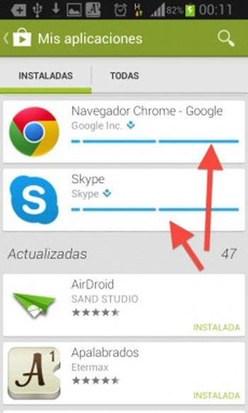Actualizar aplicaciones de  android manualmente