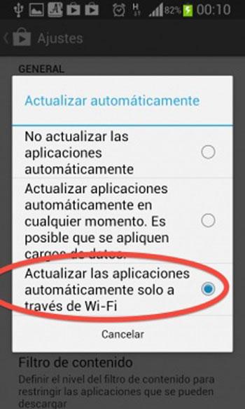 Actualizar aplicaciones para android