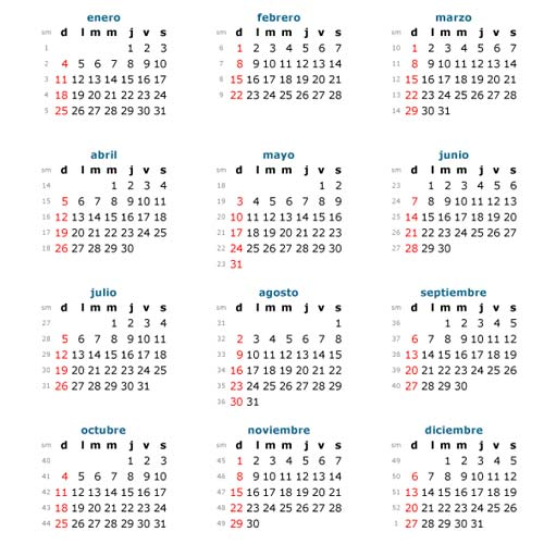 Descarga de Calendarios