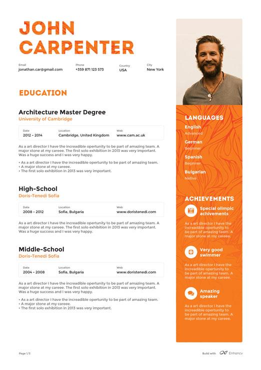 Aplicaciones para crear CV de manera gratuita como Enhancv