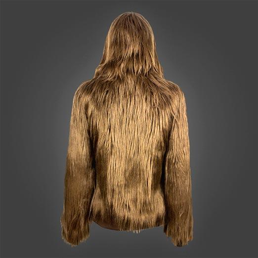 Parte de atrás de la sudadera de Chewbacca con mucho pelo