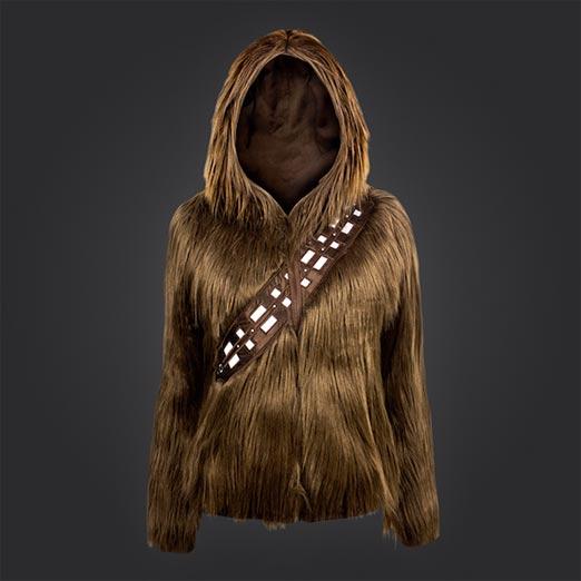 Parte Frontal de la sudadera Chewbacca especial para chicas geek