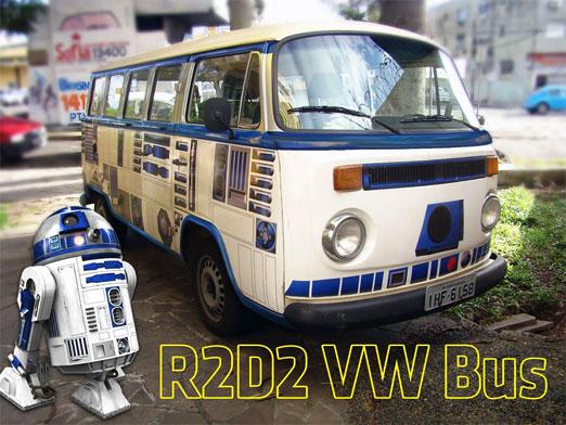 Furgoneta de volkswagen R2D2. Esta increíble camioneta esta forrada con vinilo